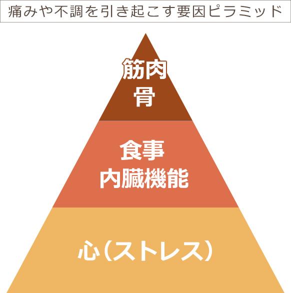痛みや不調を引き起こす要因ピラミッド